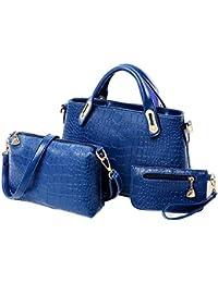 Rrimin Women Handbag Shoulder Bags Purse Tote Leather Ladies Messenger Bag Three-piece Suit Bag