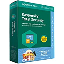 Kaspersky Lab Total Security 2018 3licencia(s) 1año(s) Full license Español - Seguridad y antivirus (3, 1 año(s), Full license, Descarga)