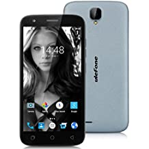"Ulefone U007 - Smartphone libre Android 6.0 (Pantalla 5.0"", Cámara 8.0 Mp, ROM 8 GB, Quad Core 1.3GHz, Wifi, Dual SIM), Gris"