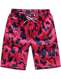Rera Homme Swimsuit Été Shorts de Bain Short de Plage avec Cordon Bermuda  Séchage Rapide Imprimé 3a7790722c7