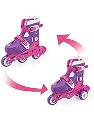 Fun Bee Rollers Inline (3 roues) Patines 2 EN 1 FUNBEE Rosa (Ajustable