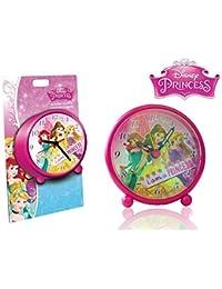 Reloj despertador infantil niños con motivo de PRINCESAS DISNEY - Disney WD16054