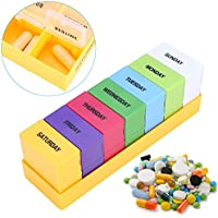 Preisvergleich für 7 Tage Pillendose Pillenbox Tablettendose Tablettenbox Wochendosierer Morgens Mittags Abends