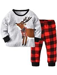 Pijama Niños Ropa de Dormir Ropa de Casa Top de la Disfraz Pantalones Largos Ropa de Salón Niñas Trajes Conjunto Invierno Primavera Elk