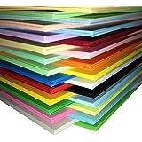 DALTON Manor 250 Sheet A5 Tarjeta PACK 25 Colores a elegir Suministrado en un Weston Transparente Caja Almacenaje - 25 VARIOS COLORES