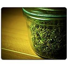 ID: 25200077Alfombrilla para ratón, de lujo, con imagen de bote de marihuana medicinal sobre fondo claro