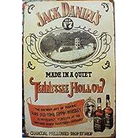 Vintage Style Jack Daniel's Old No7 Retro-Decorazione da parete a placca metallica 30 x 20 cm