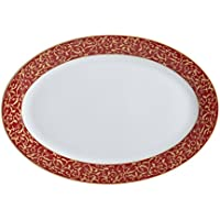 Mikasa Parchment Rouge Oval Serving Platter, 14-Inch by Mikasa