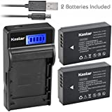 Kastar Battery (X2) & Slim LCD Charger For Canon LP-E12 And Canon Eos 100D, Eos Rebel SL1, Eos M Camera System & Canon LPE12 Grip