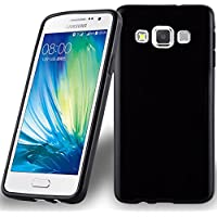 4b6c11c84f2 Samsung Galaxy A3 2015 (5) Funda Super Delgada de Silicona TPU en NEGRO de  Cadorabo (Diseño AIR) – Cubierta Protectora Ligera Flexible con Antichoque  para ...