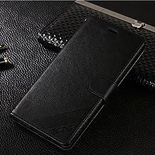 XiaoMi Redmi Note2 Monedero Funda - CHENXI Premium PU Funda de cuero Flip Case Cover con ranuras tarjetas Cierre Magnetico para XiaoMi Redmi Note2 Negro