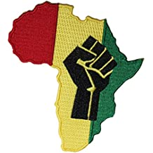 "REGGAE & RASTA Africa Fist PATCH PARCHE Iron-On / Sew-On Officially Licensed Artwork, 4.5"" x 3.2"" EMBROIDERED BORDADO Patch"