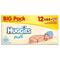 Huggies Pure Baby Wipes Big Pack 12 x 56 per pack