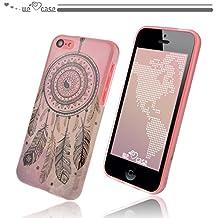 WeLoveCase Casco para Apple iPhone 5C Silicona TPU Suave Funda Cascara Protección Anti Polvo Resistente Diseño Creativo Original de Moda Nuevamente (iPhone 5C, dibujo Campanula Rosa)