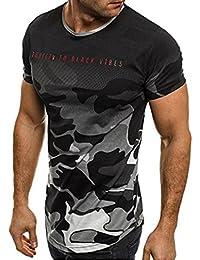 Sport T-Shirt Herren Sweatshirt Kanpola Slim Fit Langarm Shirt Bluse für  Jogging Yoga Männer Tops Freizeit Pullover… 3126cbc7d3
