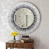 Global Glory Decorative Mosaic Black And White Mirror