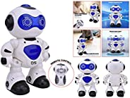 Popsugar Dancing Robot with Remote Control and Lights Toy for Boys and Girls, Blue