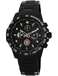 Burgmeister BMS01-622 - Reloj para hombres, correa de acero inoxidable chapado color negro