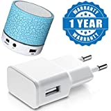 Drumstone Portable Mini Led Bluetooth Wireless Bass Speaker With TF Usb Fm-Radio And 1Amp Usb Power Wall Adapter Compatible With Xiaomi, Lenovo, Apple, Samsung, Sony, Oppo, Gionee, Vivo Smartphones (One Year Warranty)