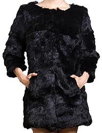 Helan Mujeres Bienes Conejo largo abrigo de pieles