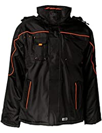 Planam Piper Jacke, Gr. S, schwarz / orange, 3535