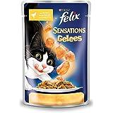 Felix Sensations Katzenfutter Huhn in Gelee mit Karotte, 20er Pack (20 x 100 g) Beutel