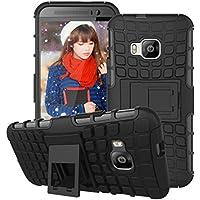Per HTC One M9, Urvoix (TM) ibrida Dual Layer antiurto Shell Grenade Grip Pneumatici Textured Custodia con supporto,