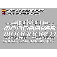PEGATINAS MONDRAKER F163 VINILO ADESIVI DECAL AUFKLEBER КЛЕЙ MTB STICKERS BIKE (BLANCO)