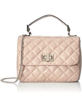 CTM Stylische handtasche der Frau, die in echten gesteppte made in Italy 28x20x15 Cm