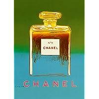 """Cartolina illustrata """"ANDY WARHOL Chanel"""", riproduzione in formato poster A3, 250 g/mq, colore: verde"""