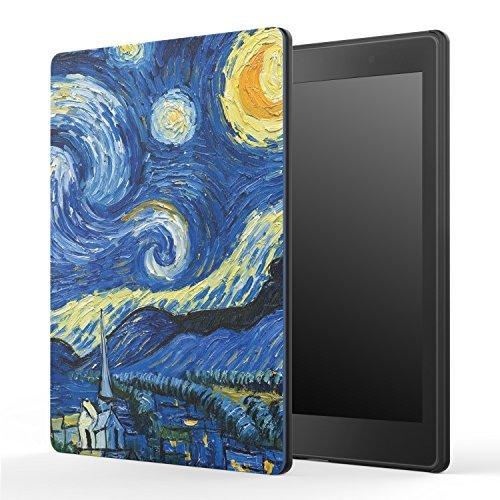 "MoKo Housse Kobo Aura One 7.8 - Etui Origami avec Support Mince et léger pour Kobo Aura One 7.8"" e-Reader 2016, Nuit étoilée (Auto Réveil/Sommeil)"
