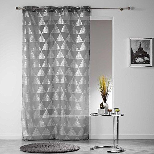 Douceur d \'Intérieur Ösengardinen Frosty, Polyester, Polyester, anthrazit, 280x140 cm
