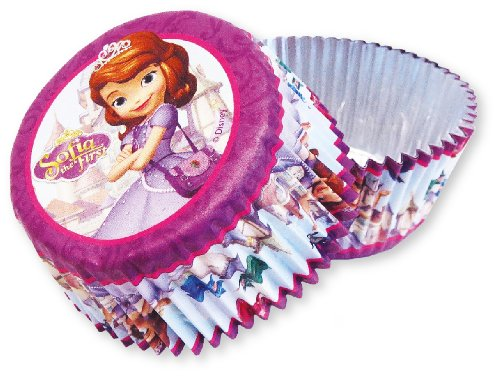 Disney Amscan International Muffin- / Kuchenförmchen, Folienmaterial, Junior - Sofia die Erste - Auf einmal Prinzessin