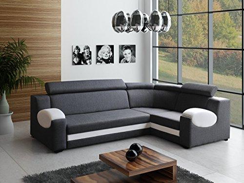 große Ecksofa Sofa Eckcouch Couch mit Schlaffunktion und Bettkasten Ottomane L-Form Schlafsofa Bettsofa Polstergarnitur Wohnlandschaft – PARIS