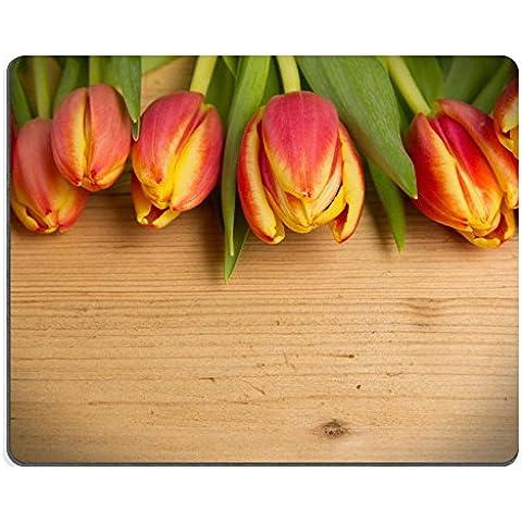 Mousepads tulipano fiori colorati su sfondo immagine ID by 26336498 Liili personalizzato Mousepads resistenza alle macchie Collector-Kit da cucina da tavolo Drink personalizzato resistenza alle macchie Collector-Kit da cucina, da tavolo