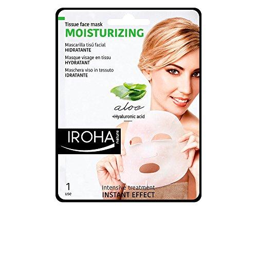 Iroha Gesichtsmaske Aloe Vera, Green Tea & Ginseng (1 Maske)