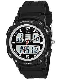 Vizion Black Dial Analog-Digital Dual Time Black-Side Watch For Men-8018609AD-1