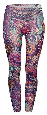 FRINGOO® Women's Yoga Printed Leggings Stretchy Workout Tights Running Gym