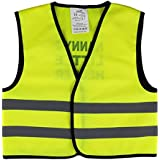 Unisex Childs Hi Vis Vest Kids High Visibility Waistcoat With I'm A Cheeky Monkey Writing At the Back