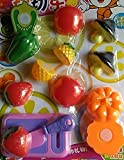 #1: Stuff Jam Realistic Sliceable Fruits Cutting Play Toy Set with Velcro, Multi Color