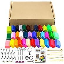 Kit de 32 colores de arcilla polimérica, 5 herramientas y distintos accesorios para el modelado