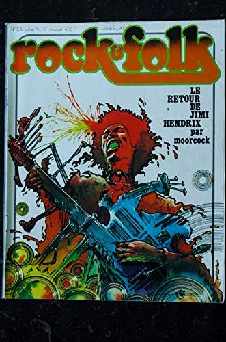 ROCK & FOLK 102 JUILLET 1975 COVER LE RETOUR DE JIMI HENDRIX PAR MOORCOCK