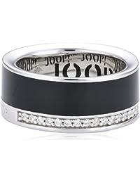 Joop Damen-Ring Epoxy schwarz Zirkonia weiss 925 Sterling Silber JPRG90653A530
