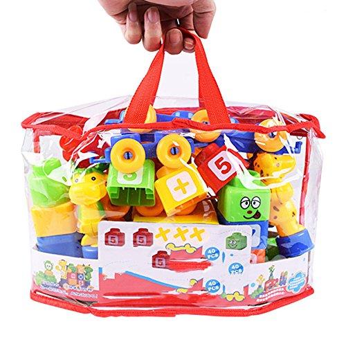 QXMEI Kinder Bausteine Spielzeug Puzzle Kunststoff Große Partikel 48 Tabletten Spielzeug -