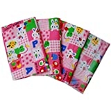 Tinni Cutie Pie New Born Baby Diaper Changing Mat With Apple,Check,dot,Flower And Rabbit Print And Multi Colour Made By Group Of Mothers 0-2 Years