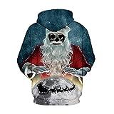 MIRRAY Herren Damen Unisex Weihnachten Pullover Elch Santa Schneemann 3D Gedruckt Lange Ärmel Hoodie Sweatshirt für MIRRAY Herren Damen Unisex Weihnachten Pullover Elch Santa Schneemann 3D Gedruckt Lange Ärmel Hoodie Sweatshirt