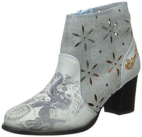Chaussures Desigual - Desigual Cris Jeans, Bottes Chelsea Femme, Bleu