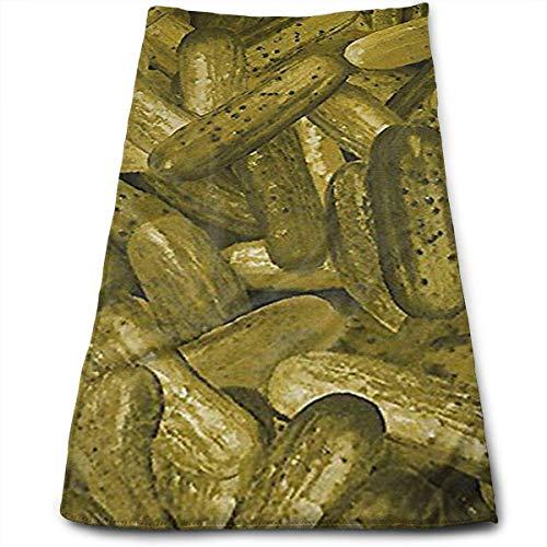 DDHHFJ Foodie Whole Pickles Pickle Microfiber Kitchen Towels - Super Absorbent Dish Towels - Tea Towels(12 X 27.5 Inch) - Blue Pickle Dish