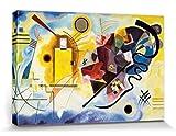1art1 83293 Wassily Kandinsky - Gelb Rot Blau, 1925 Leinwandbild Auf Keilrahmen 120 x 80 cm