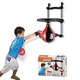 iVansa Hängend Punchingball Boxen Set mit Boxhandschuhen & Pumpe, Zum Boxen Boxtrainer Punching Boxsack Set für Kinder, 65x40x50cm